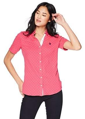 U.S. Polo Assn. Women's Short Sleeve Fashion Blouse