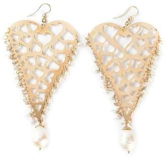 Natasha Zinko 18kt yellow gold heart earrings