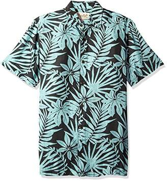 Margaritaville Men's Short Sleeve Tropical Paradise Print Rayon Shirt