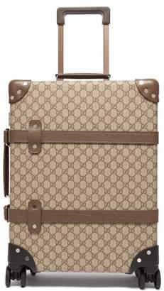 Gucci X Globe Trotter Gg Supreme Cabin Size Case - Womens - Brown Multi