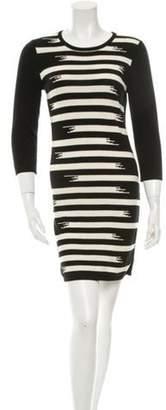 Gryphon Striped Knit Dress Black Striped Knit Dress