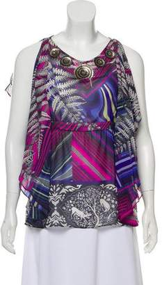 Matthew Williamson Silk Sleeveless Top