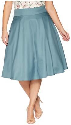 Unique Vintage Plus Size High-Waist Vivien Swing Skirt Women's Skirt