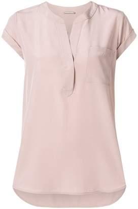 Hemisphere V-neck pocket T-shirt