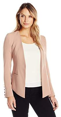 James Jeans Women's V Blazer Hi-Lo Fitted in