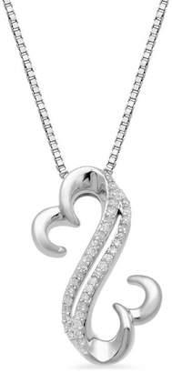 Zales Open Hearts by Jane Seymoura 1/10 CT. T.W. Diamond Pendant in Sterling Silver