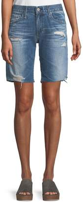 AG Jeans Nikki Distressed Relaxed Skinny Shorts