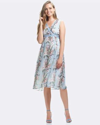 Soon Pin Tuck Midi Dress