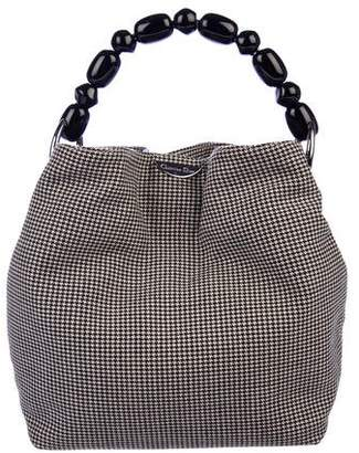 Christian Dior Houndstooth Bucket Bag