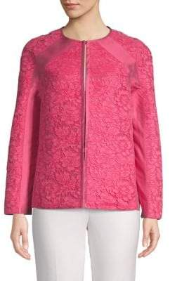 Valentino Floral Lace Silk Jacket