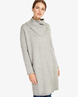 Phase Eight Paloma Plain Jacquard Knit Coat