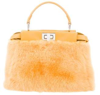 Fendi Mink Mini Peekaboo Bag