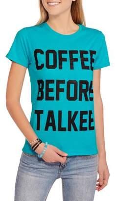 "Freeze Juniors' ""Coffee"" Graphic Over Pocket Tee"