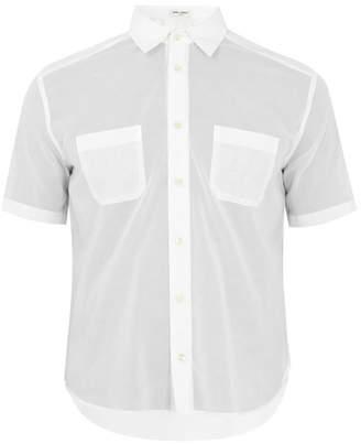 Saint Laurent - Patch Pocket Short Sleeved Cotton Shirt - Mens - White