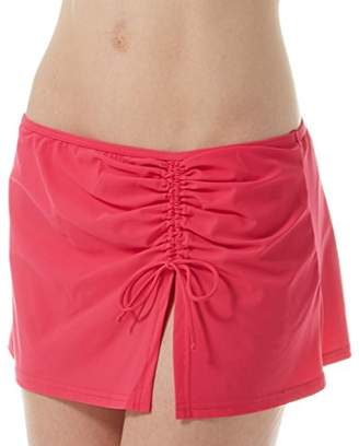 Gottex Profile by Women's Solid Asymmetrical Side Tie Skirted Swimsuit Bottom
