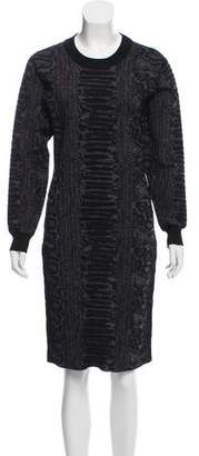Lanvin Wool Intarsia Dress
