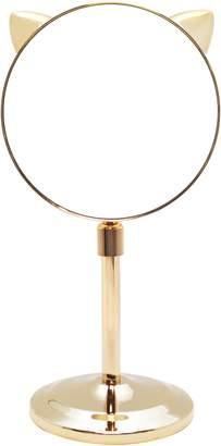 Danielle Creations Cat Ear Extendable Gold Midi Mirror