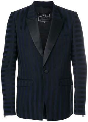 Unconditional striped sheen blazer