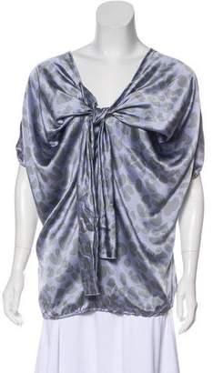David Szeto Silk Short Sleeve Top