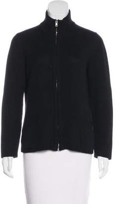 Malo Cashmere Zip-Up Sweater
