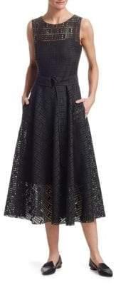 Akris Punto Lace A-Line Dress