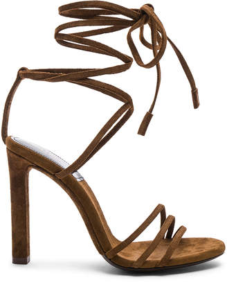 Saint Laurent Suede Kate Strappy Sandals