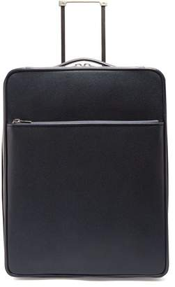 Valextra Leather Cabin Suitcase - Womens - Navy