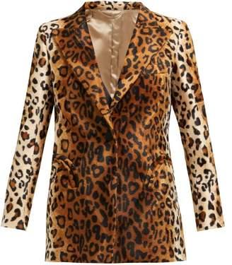 BLAZÉ MILANO Varenne Everyday Single Breasted Velvet Blazer - Womens - Animal