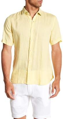 Toscano Short Sleeve Solid Woven Shirt