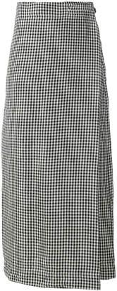 Massimo Alba gingham wrap skirt