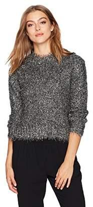Milly Women's Italian Metallic Fringe Sweater