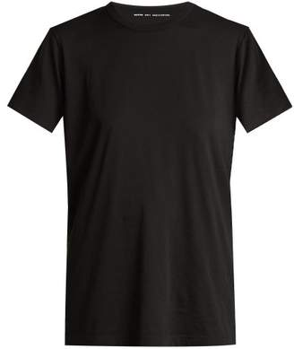 Summa - Short Sleeved Pima Cotton T Shirt - Womens - Black