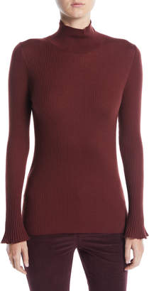 Lafayette 148 New York Fine-Gauge Wool Turtleneck Sweater
