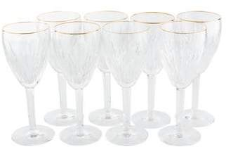 Waterford Set of 8 Golden Carina Wine Glasses