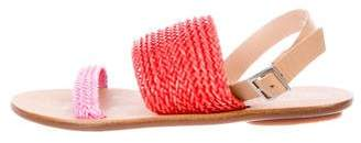 Loeffler Randall Leather Woven Sandals