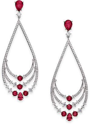 Danori Crystal & Stone Layered Drop Earrings