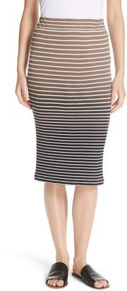 ATM Anthony Thomas Melillo Dip Dye Stripe Skirt
