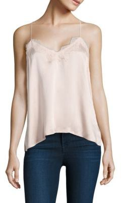 Cami NYC Racer Silk Charmeuse Camisole $155 thestylecure.com