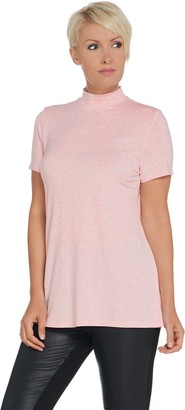 Halston H By H by Essentials Mock Neck Short-Sleeve Tunic