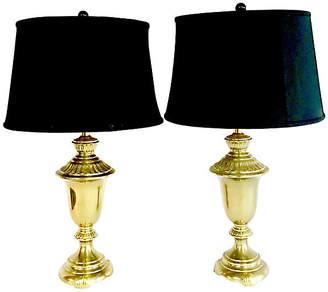 One Kings Lane Vintage 1960s Brass Table Lamps - Set of 2 - Jacki Mallick Designs