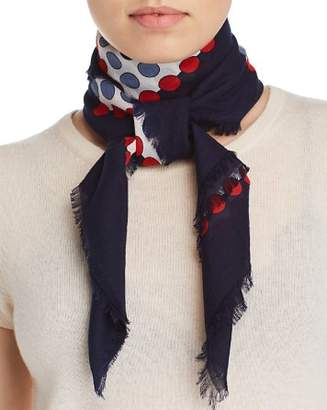 Fraas Square Print Polka Dot Scarf