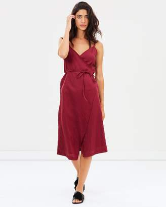 Freya Linen Wrap Dress