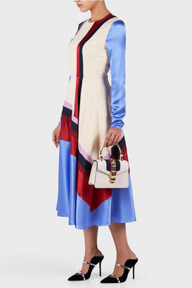 Roksanda Etta Long Sleeve Silk Satin Dress