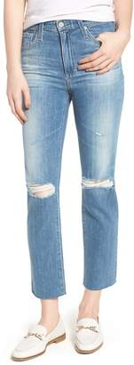AG Jeans The Isabelle High Waist Crop Straight Leg Jeans