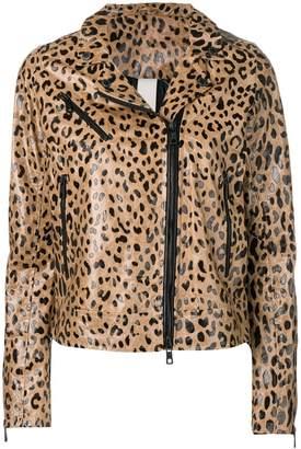 Giorgio Brato leopard biker jacket