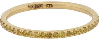 Ileana Makri Women's Yellow Diamond & Gold Thread Band