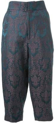 Aganovich baroque jacquard cropped trousers