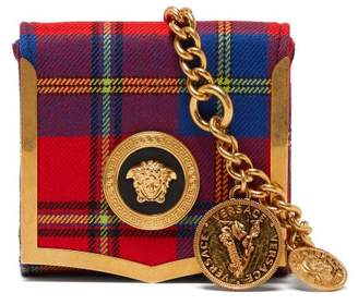 Versace Medusa Coin Tartan Belt Bag - Womens - Red Multi