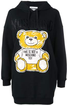 Moschino Brushstroke Teddy Bear hoodie dress