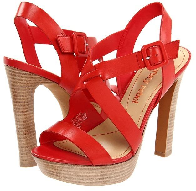 Luxury Rebel Chantal (Coral Red Leather) - Footwear